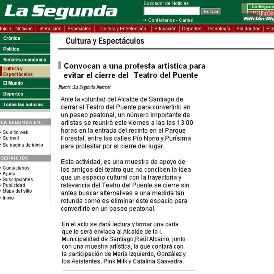 No al cierre - La Segunda - jueves 4 agosto, 2005