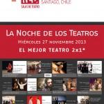 Red de Salas presenta primera Noche de los Teatros
