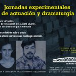 Jornadas experimentales de actuación y dramaturgia